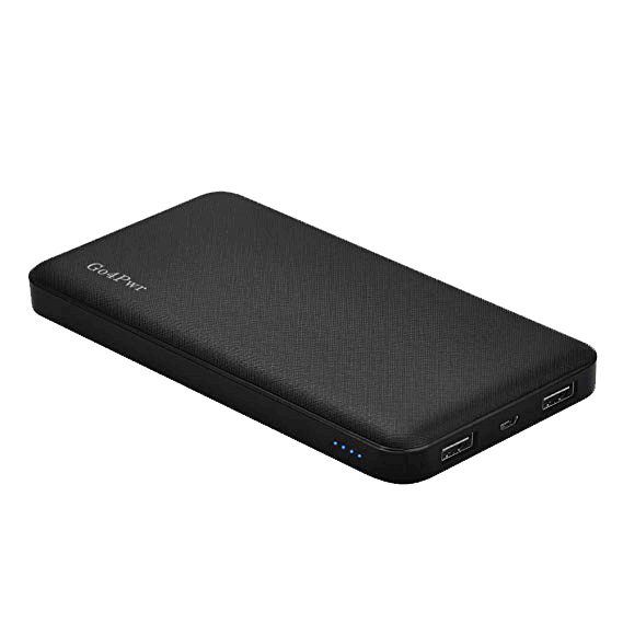 Go4Pwr 10000mAh Portable Power Bank 2 Port External Battery Charger