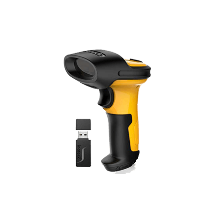 Inateck Wireless Barcode Scanner, 2.4GHz, 2600mAh Battery, 60m Range, Automatic scanning