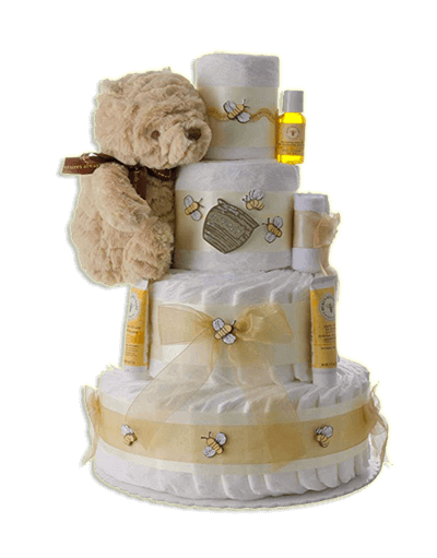 Winnie The Pooh 4 Tier Diaper Cake