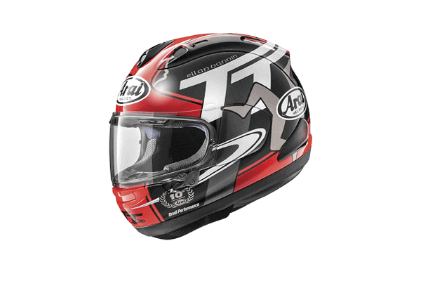 Lightweight full face motorcycle helmet