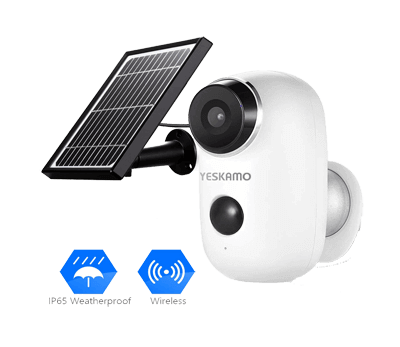 Yeskamo Solar Powered IP Camera Outdoor 1080P HD