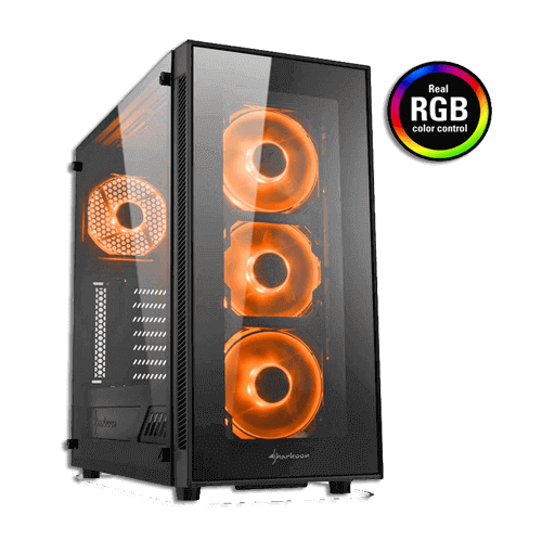 Sharkoon TG5 Tempered Glass Panel Case